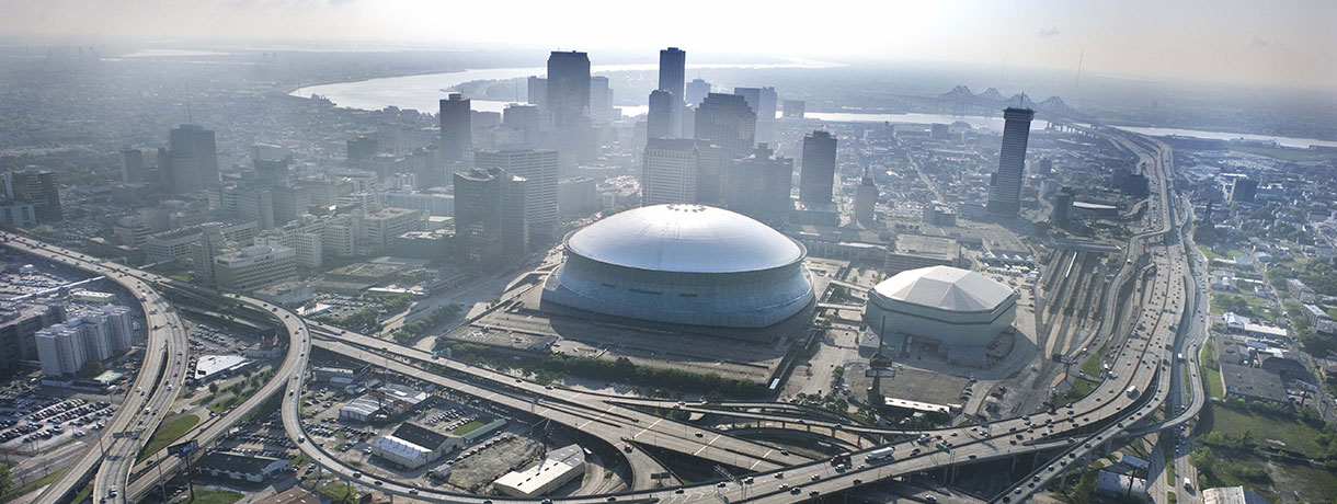View of Superdome in New Orleans
